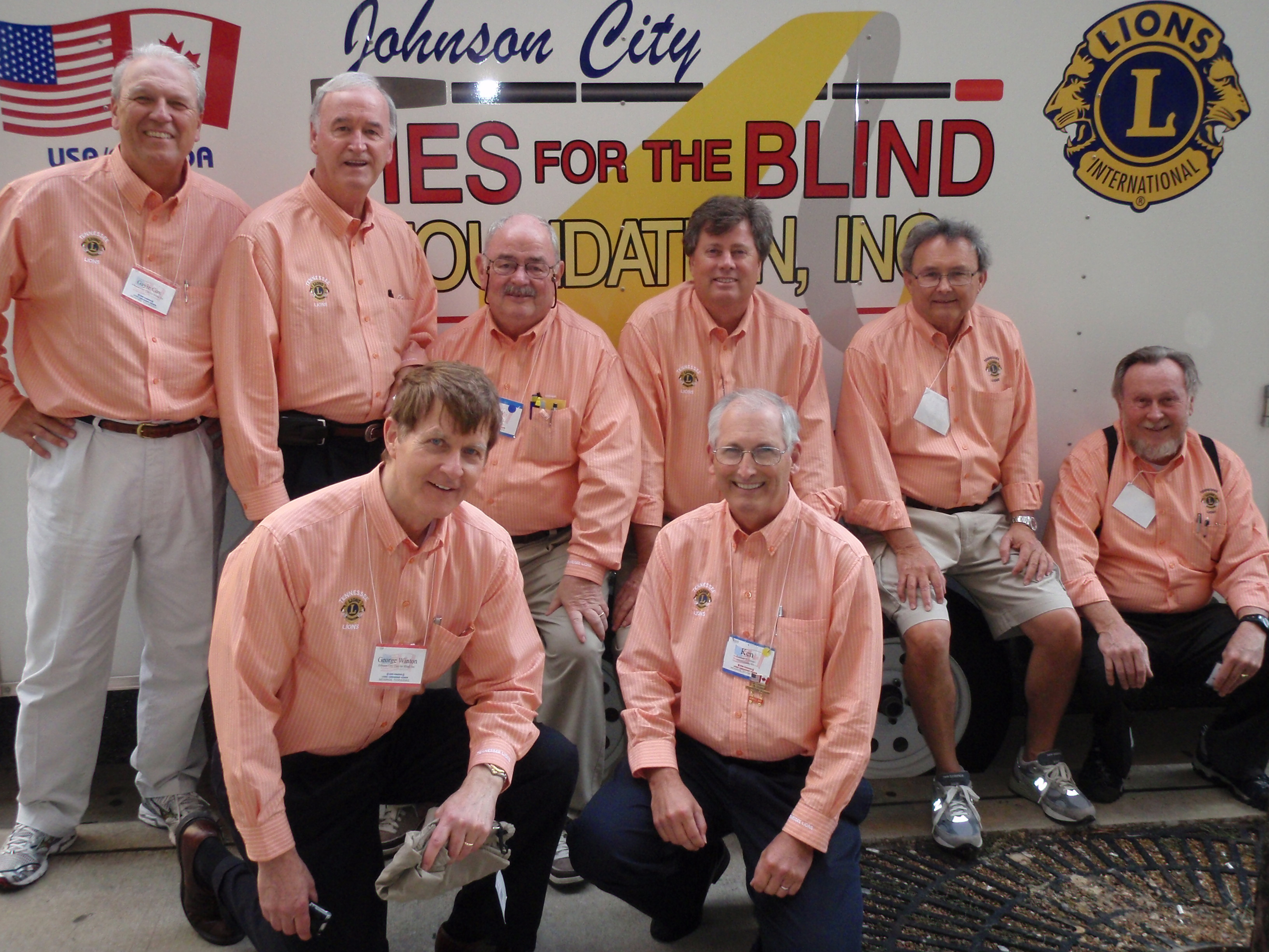 Ties for the Blind at Lions USA-Canada Forum in Memphis, August 2009